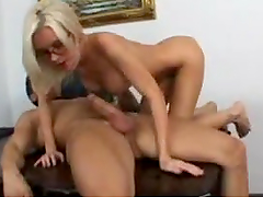 Slut Office Babe Rides Fat Cock After Work
