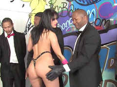 Messy facial ending after interracial gangbang with MILF Tricia Oaks
