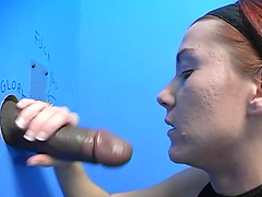Black man with a massive dick gets a sloppy blowjob from a stranger
