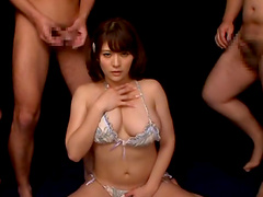 Icy Hot Asian In A Gangbang Getting Smeared In Spoof