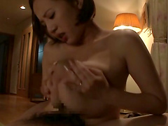 Busty Asian Cowgirl Deepthroats A Cock Then Gives A Tit Fuck