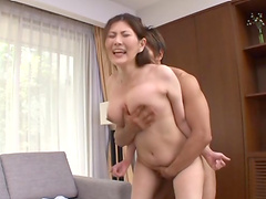 Rapturous Japanese Milf Getting Drilled Doggystyle