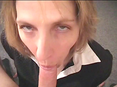 Homemade video of Marie Madison getting face fucked + facial