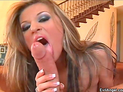 Natural boobs model moans during passionate fucking with a stud