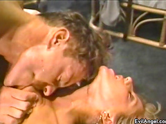 Provocative blonde MILF gets her tight ass fucked balls deep