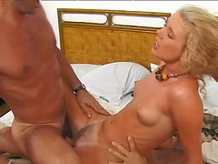 Slutty blonde wife Yelena Schieffer moans during double penetration