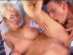 Passionate butt and pussy fucking makes Stacy Silver moan with pleasure