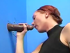 Redhead Gives A Deep Blowjob To Anonymous Cock