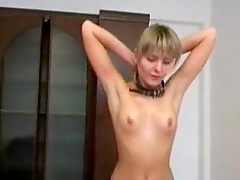 Submissive Blonde Gives us a Close Up Look Of Her Beefy Snatch