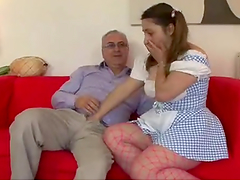 Horny BBW Teen Gets Fucked by an Old Man
