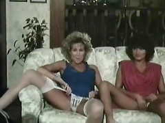 Vintage Threesome with Two Sex Goddesses