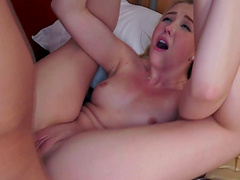Passionate lovemaking with small boobs blondie Samantha Rone