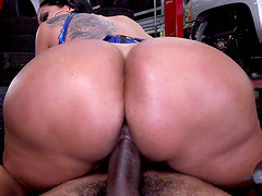 Stunning Brunette With Big Tits Getting Drilled Doggystyle