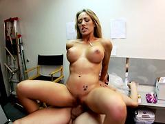 Busty blonde pornstar Capri Cavalli gets fucked hard at the gym