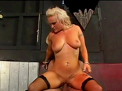 Horny mature pornstar Michelle drops her panties to ride a stranger