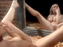 Sweet blonde solo model Julia Ann moans while fingering her cunt