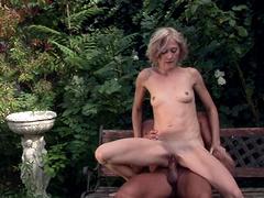 Hardcore outdoors fucking with pissing on dirty slut Kimberly