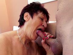 Older granny Anastasia spreads her legs to be fucked balls deep