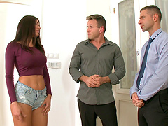 Kitana Lure never refuses to engage in the hot threesome pounding