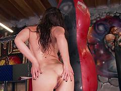 Closeup video of hot ass Casey Calvert having some solo fun