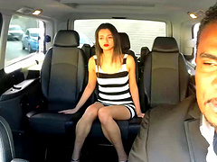 Interracial fucking in the back of the van with small tits Alicia Poz