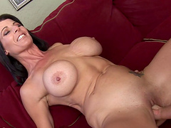 Big boobs lesbian babe moans noisily having her cockpit roughly fisted