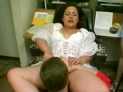 Chic gets her hairy furnace licked clean before a hardcore fucking