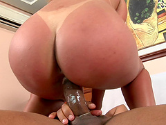Elegant Latina babes with medium ass getting her shaved pussy banged doggystyle