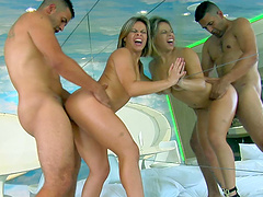 Palpitating Latina blonde with a medium ass getting her asshole drilled doggy style