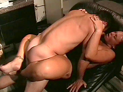 Milf with big ass yelling as her pussy is penetrated hardcore doggy style in the office