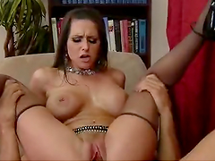 Horny Secretary Riding a Big Cock at the Office