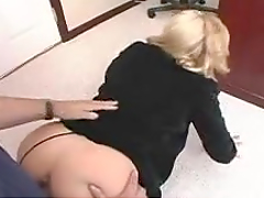 Horny Blonde Secretary Lets the Boss Fuck Her Hard
