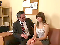Sexy Teacher Bangs A Student's Tight Pussy