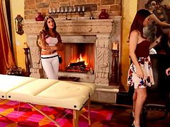 Stunning Karlie Montana loves masturbating with two hot friends