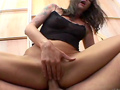 Two dudes team up to fuck pussy and ass of attractive Lexi Bardot