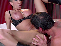 Crazy fucking from behind with brunette pornstar Kayla Carrera