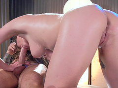 Passionate massage leads to crazy fucking with sexy Molly Jane