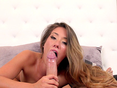 Eva Lovia spreads her legs for an afternoon fuck in the living room