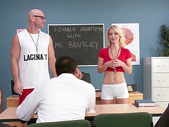 Small tits blonde Laura Bentley penetrated by a long manhood