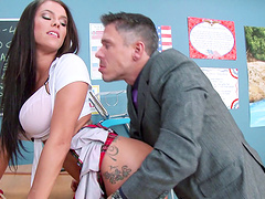Brunette chick Peta Jensen with the perfect body fucked good