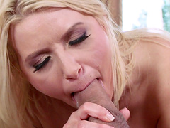 Slutty blonde girlfriend Anikka Albrite loves to be fucked in her butt