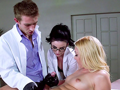 Threesome on the hospital bed with Aaliyah Love & Veruca James