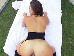 Anal loving slut Kelsi Monroe in stockings moans with pleasure