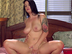 Slut Katrina Jade with a butt tattoo gets fucked from behind