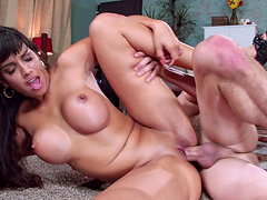 Mercedes Carrera loves to have sex on the floor with her neighbor