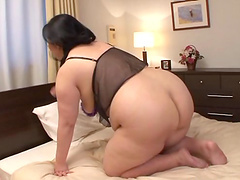 Solo masturbation shoot with a lecherous Asian bbw