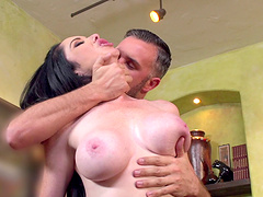 Shaved pussy Bella Maree fucked in the office by her horny boss