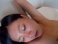 Hot Yui Satonaka gets her pussy pleased in many ways by a dude