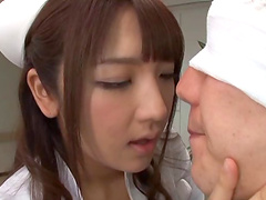 Busty Asian Shiori Kamisaki is the real master of a blowjob and a tit job