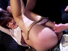 Clothed sex is what horny chick Kanako Iioka prefers with this dude